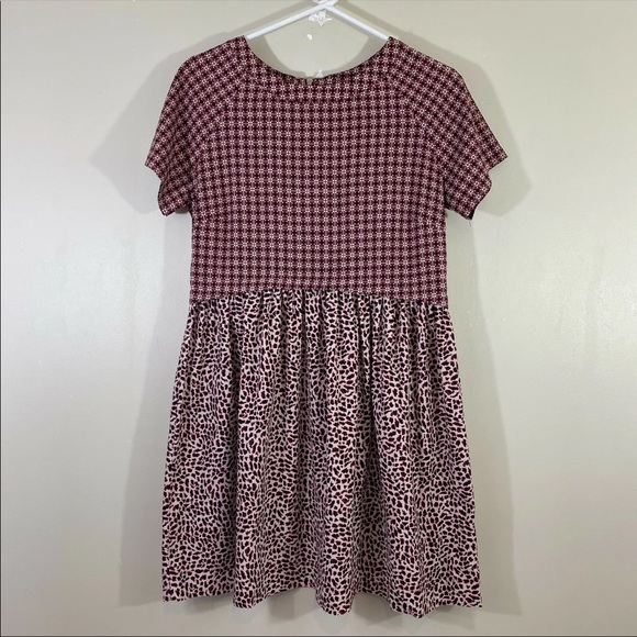 Topshop Womens Pattern Short Dress Size US 2